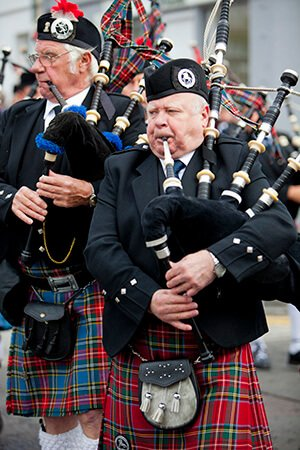 Scottish Highland bagpipers